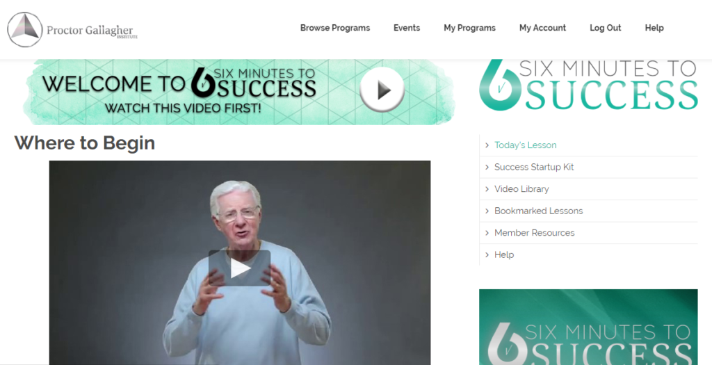 Six Minutes to Success Video Series
