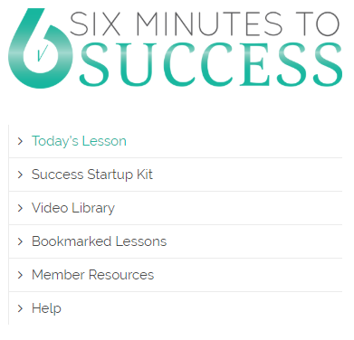Six Minutes to Success Interface