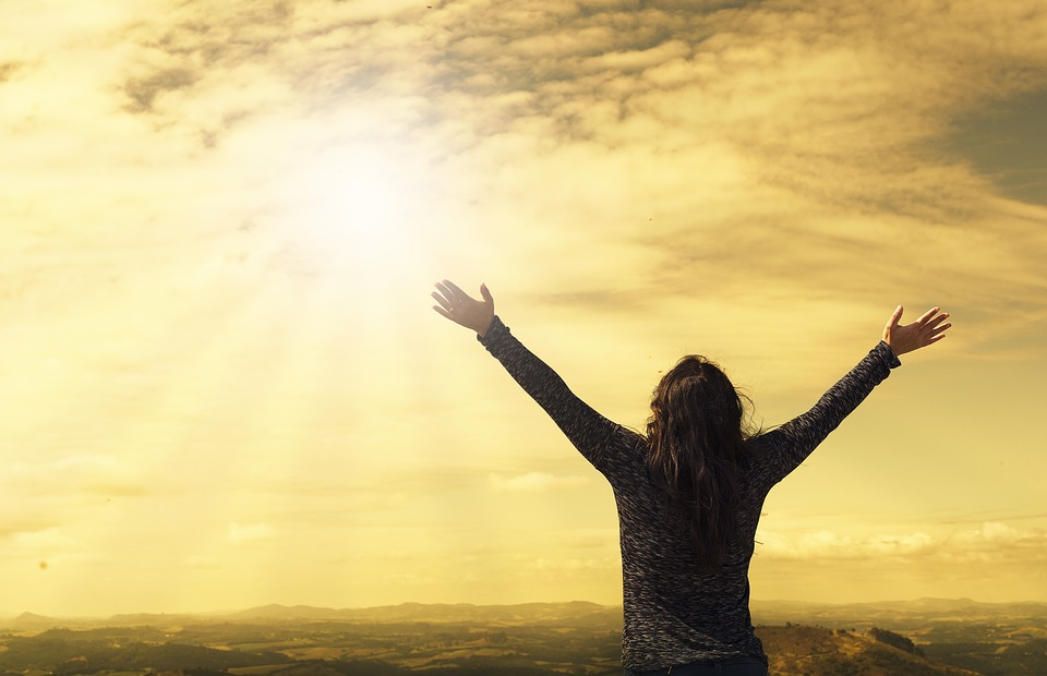 Woman With Gratitude Attitude