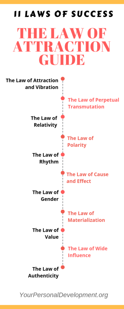 Universal Laws of Success Infographic